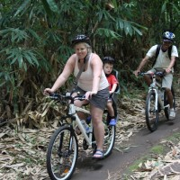 bamboo forest riding with children