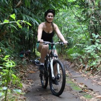 riding through bamboo forest #1