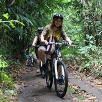 riding through bamboo forest #2