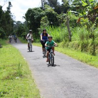 cycle through rural village
