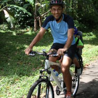 bali cycling tour with little baby
