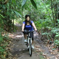 ride in bamboo forest