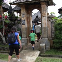 entering house compound-bali