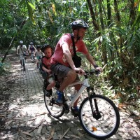 bamboo forest ride with little baby
