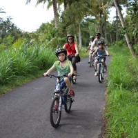 private family bike ride bali