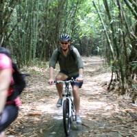 biking inside bamboo forest #2