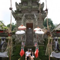 Photo in front of Penataran Temple