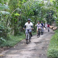 cycle through bali village