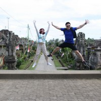 jumping photos at penglipuran