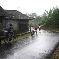 Bali cycling in the rain