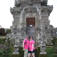 in front of penataran temple