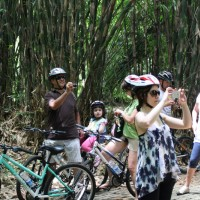 Photo session inside bamboo forest