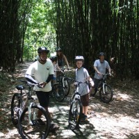 Family cycling tour of Marnon