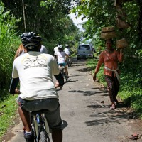 passing local villagers