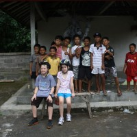 with balinese kids