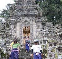 leaving Kehen temple