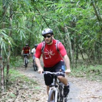 bamboo forest cycling tour with Tim