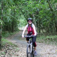 bamboo forest bike tour with Karen