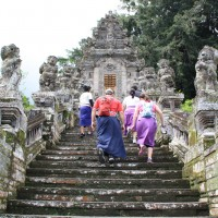ascending to Kehen temple