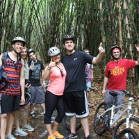 group photos at  bamboo forest