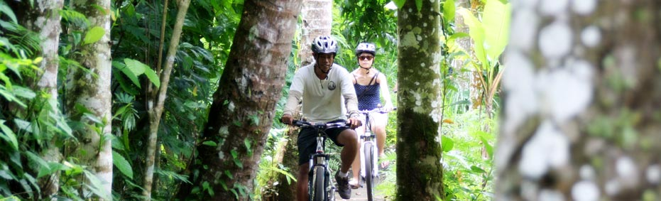Off the beaten track Bali cycling touring