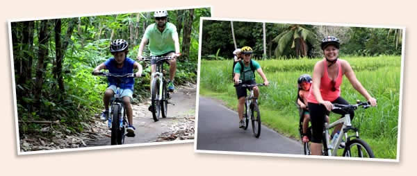 Bali's countryside cycling trips (bamboo forest & rice paddies)