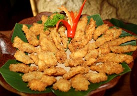Balinese crispy chicken and shrimp