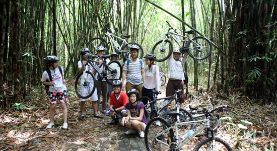 photo group inside bamboo forest