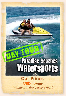 Watersport, paradise beach and sunset tour