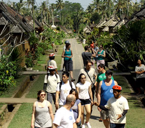 sightseeing at penglipuran village