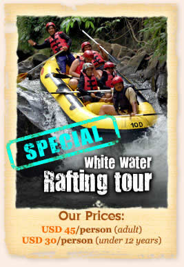 Bali white water river rafting adventure tour
