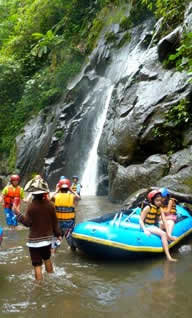 bali rafting with kids