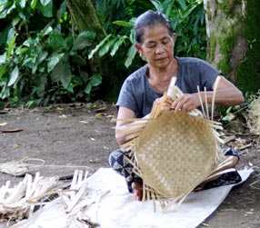 various finished bamboo handicrafts