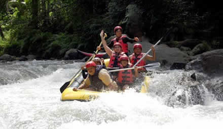 bali white water rafting activities